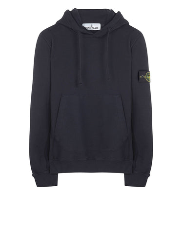 60520 Garment Dyed Hooded Sweatshirt in Navy Blue
