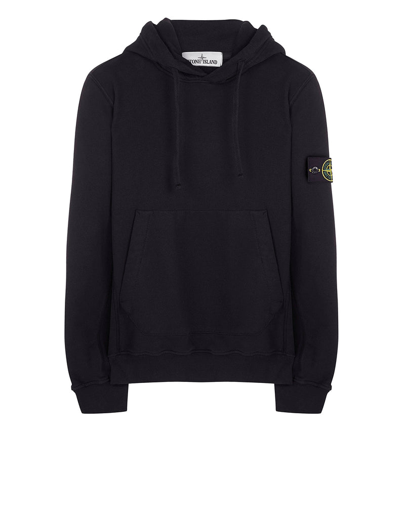 60520 Garment Dyed Hooded Sweatshirt in Black