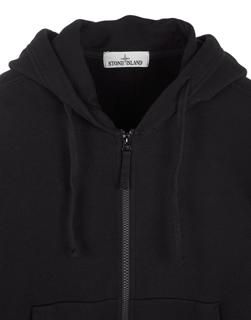 60620 Garment-Dyed Hooded Sweatshirt in Black
