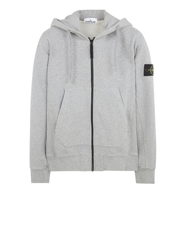 60620 Garment-Dyed Hooded Sweatshirt in Light Grey
