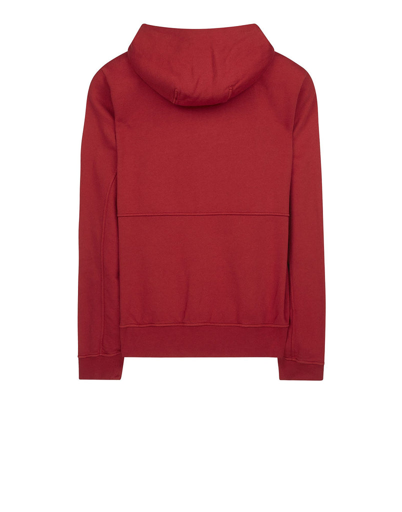 61251 Fleece Hooded Zip Jacket in Red