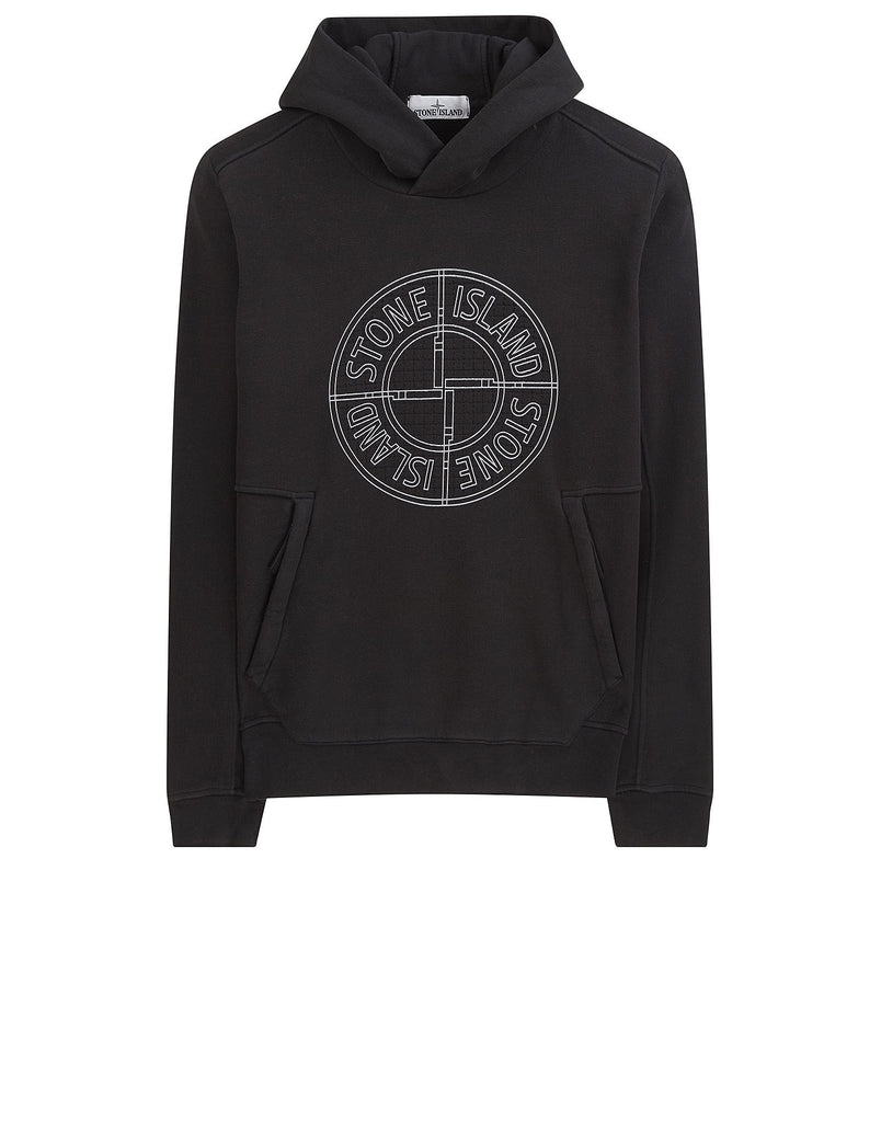 64683 Hooded sweatshirt in Black