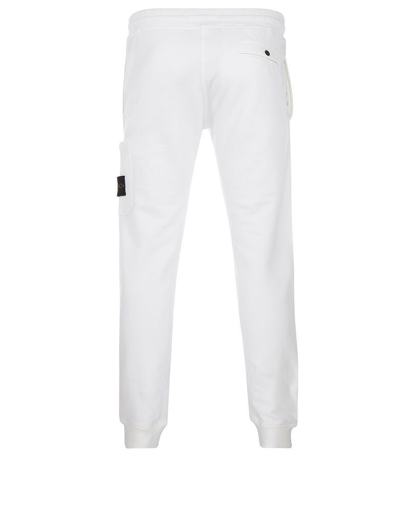 66620 Brushed Cotton Fleece Sweatpants in White
