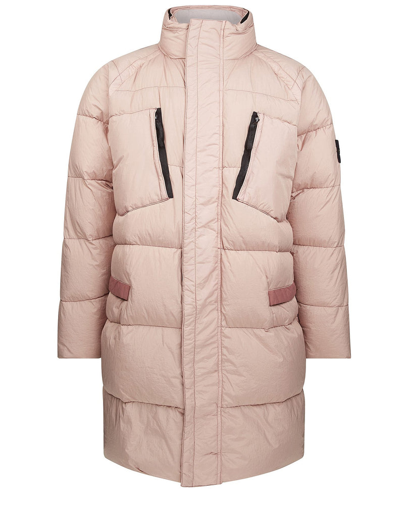 70223 GARMENT DYED CRINKLE REPS NY - DOWN Jacket in Pink