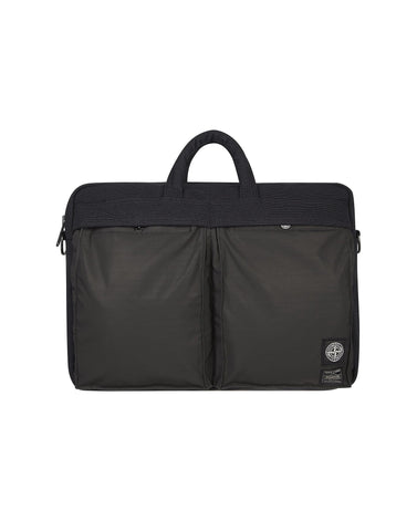 91165 STONE ISLAND/PORTER CANVAS DI NYLON/HIDDEN REFLECTIVE Bag In Black