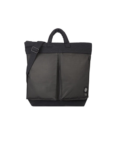 91265 STONE ISLAND/PORTER CANVAS DI NYLON/HIDDEN REFLECTIVE Bag in Black