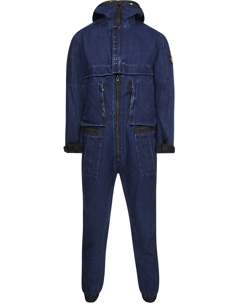 F0134 POLYPROPYLENE DENIM Overall in Blue