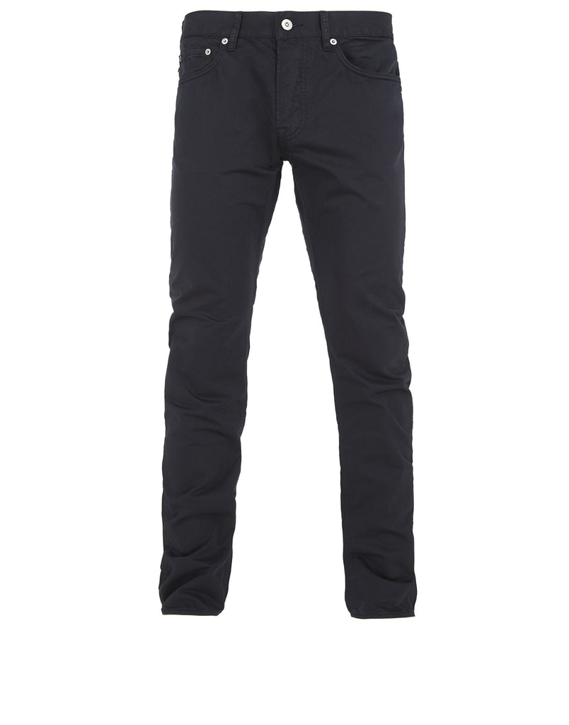 J1BZM Garment Dyed Cotton Satin Trousers in Navy