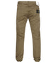 J1BZM Garment Dyed Cotton Satin Trousers in Khaki