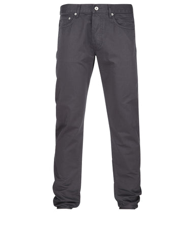 J1BZM Garment Dyed Cotton Satin Trousers in Grey