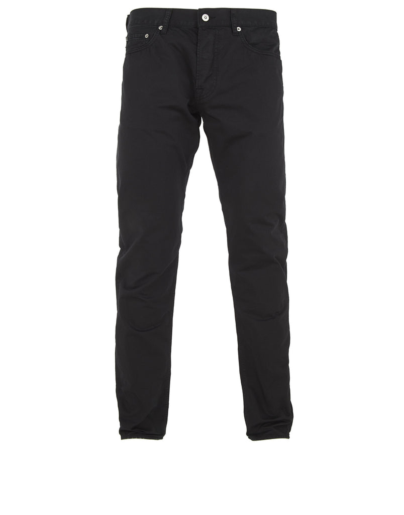 J4BZM Cotton Satin Trousers in Black