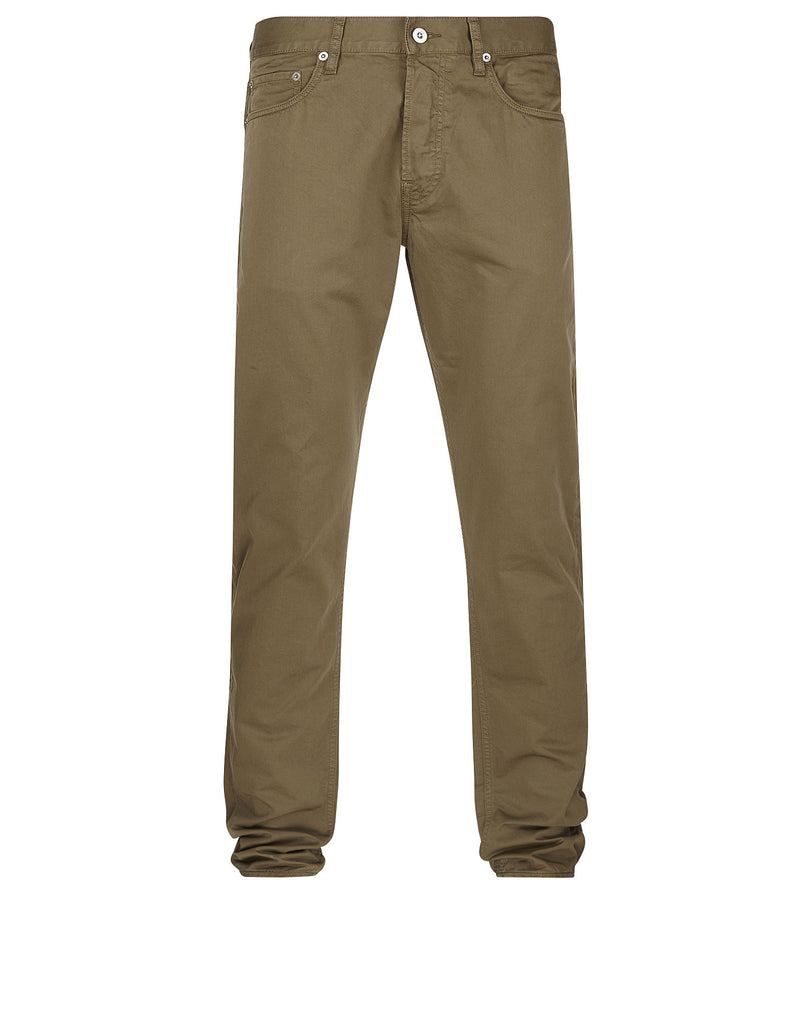 J4BZM Cotton Satin Trousers in Khaki