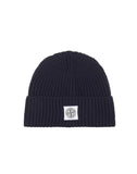 N26A7 Ribbed Wool Hood Hat in Blue