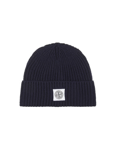 N26A7 Ribbed Wool Hat in Blue