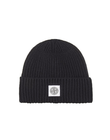 N26A7 Ribbed Wool Hat in Black