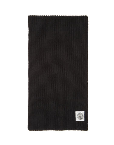 N30A7 Lambswool Scarf in Black