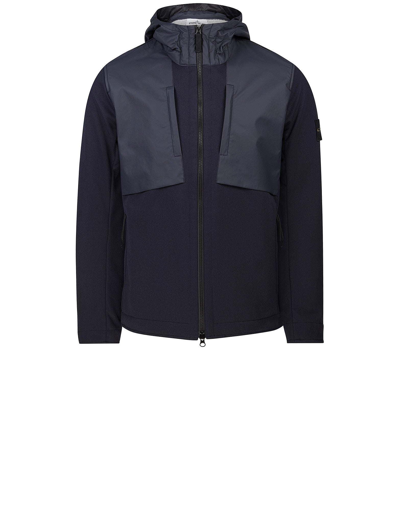 Q0128 SOFT SHELL-R TERRY Jacket in Navy