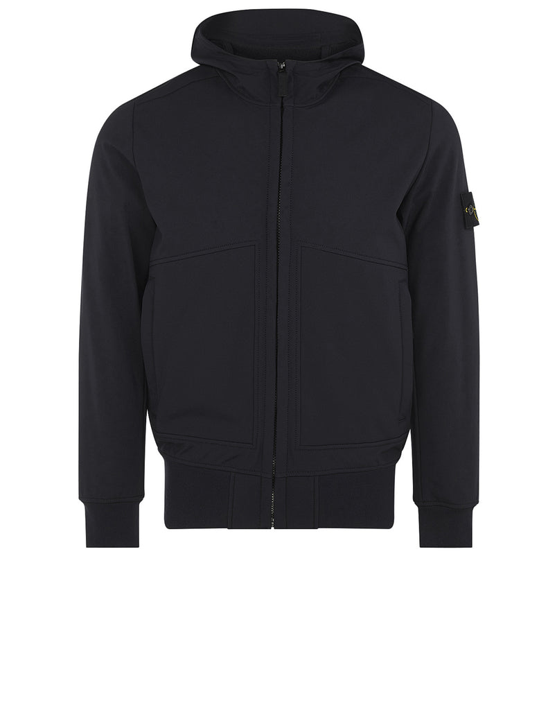 Q0422 Soft Shell-R Hooded Jacket in Black
