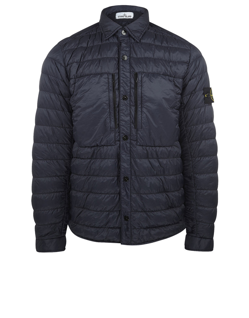 Q0724 GARMENT DYED DOWN 26GR X SQM-NY Jacket in Navy Blue