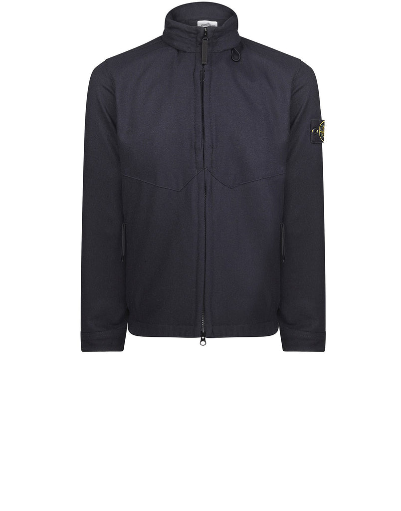 Q1214 Jacket with Concealable Hood in Navy Blue