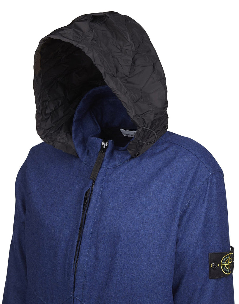 Q1214 Jacket with Concealable Hood in Blue