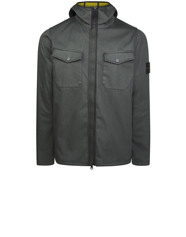 Q1331 RASO GOMMATO FLOCK Jacket in Green