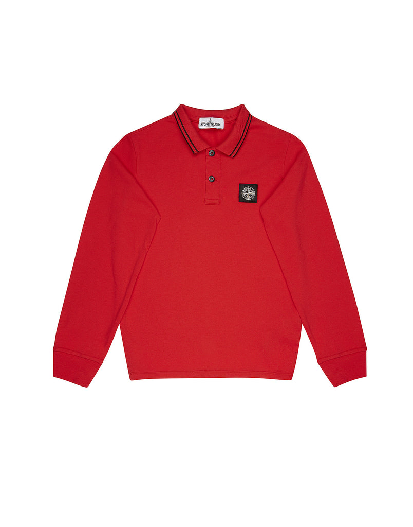 20748 Long Sleeve Polo Shirt in Red