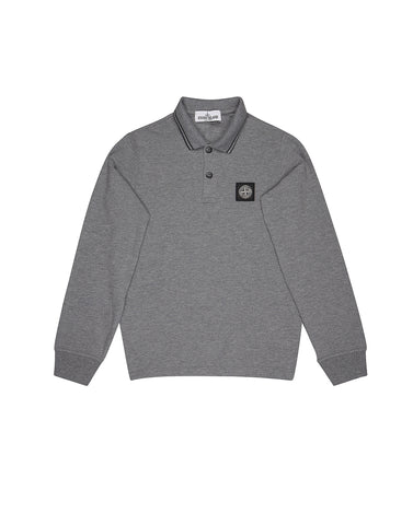 20748 Long Sleeve Polo Shirt in Grey