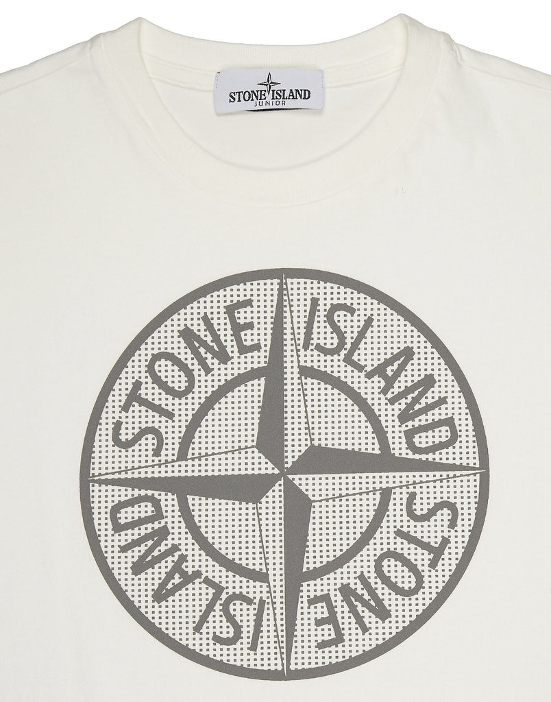 21152 Long Sleeve Compass Logo T-Shirt in White
