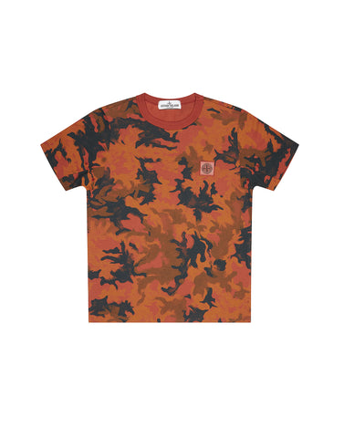 21559 Short sleeve Camo T-Shirt in Red