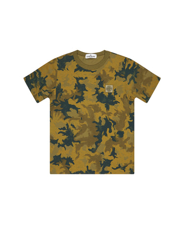 21559 Short sleeve Camo T-Shirt in Green