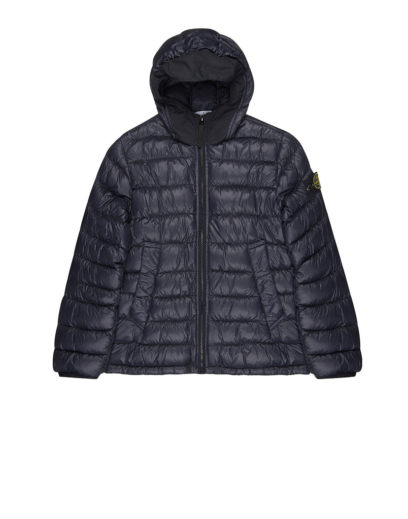 40432 Hooded down jacket in Blue