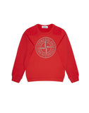 60940 Cotton Compass Logo Sweatshirt in Red