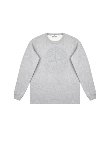 60940 Cotton Compass Logo Sweatshirt in Grey