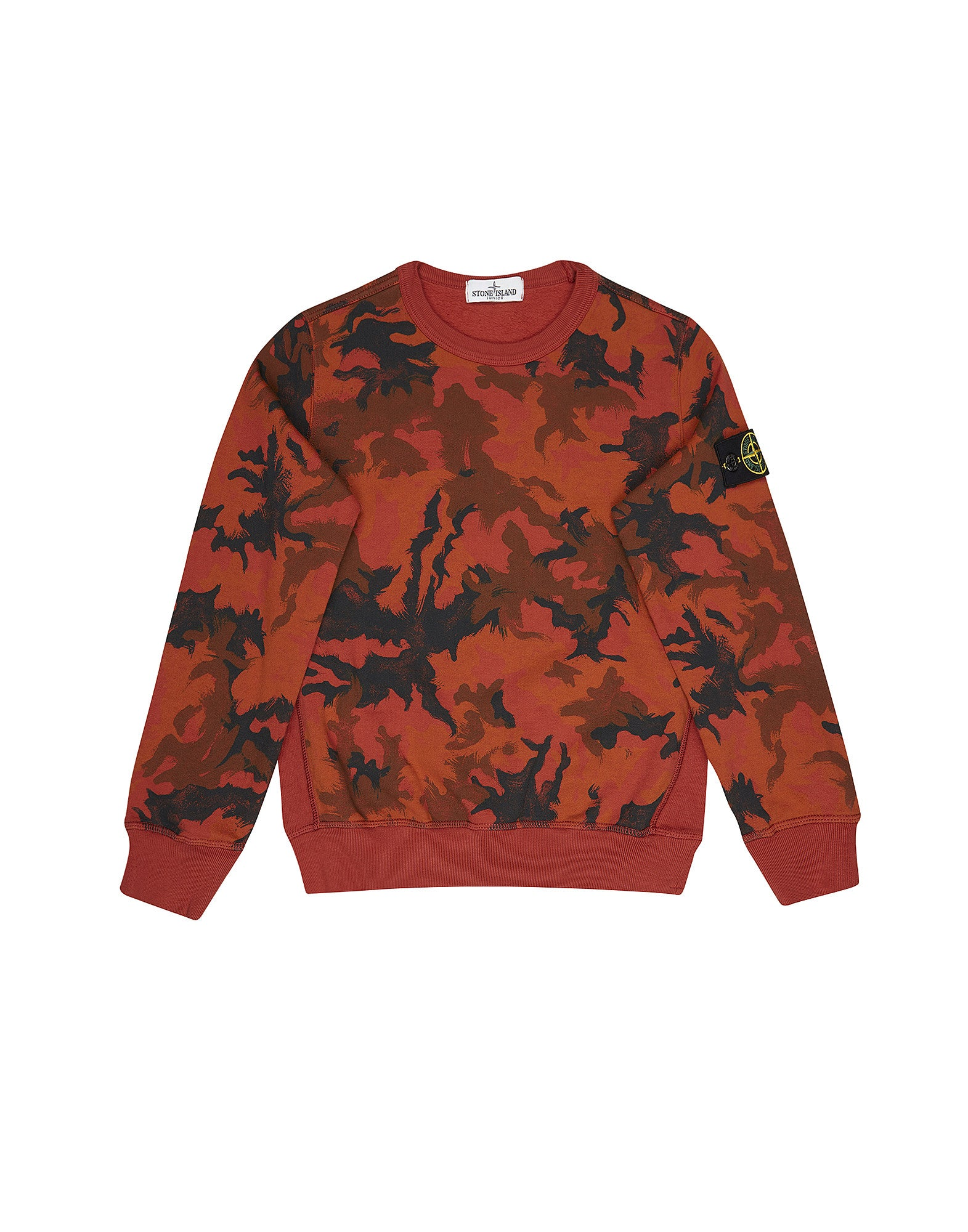 61560 Crew Neck Camo Sweatshirt in Red