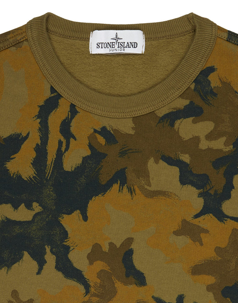 61560 Crew Neck Camo Sweatshirt in Green