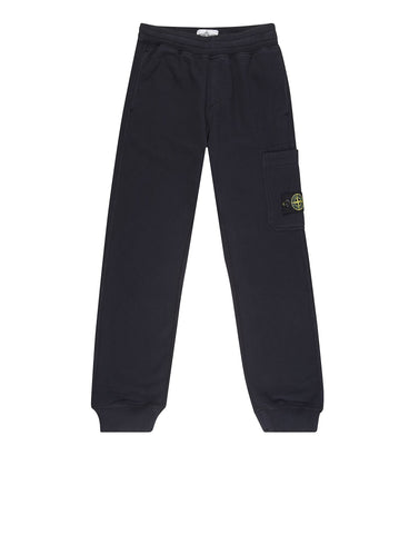 61740 Garment Dyed Cotton Fleece Track Pants in Navy Blue