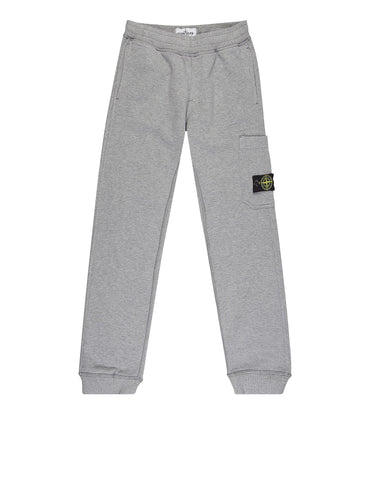 61740 Garment  Dyed Cotton Fleece Track Pants in Grey