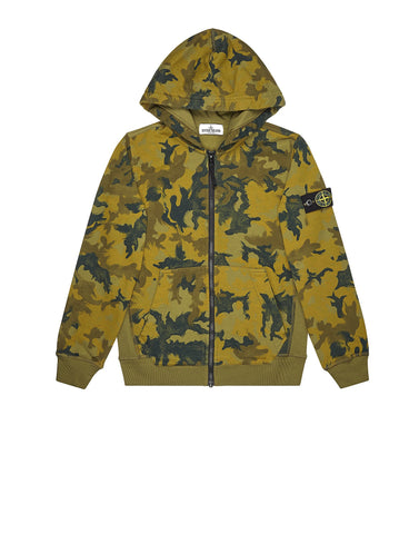 62060 Hooded Camouflage Sweatshirt in Green