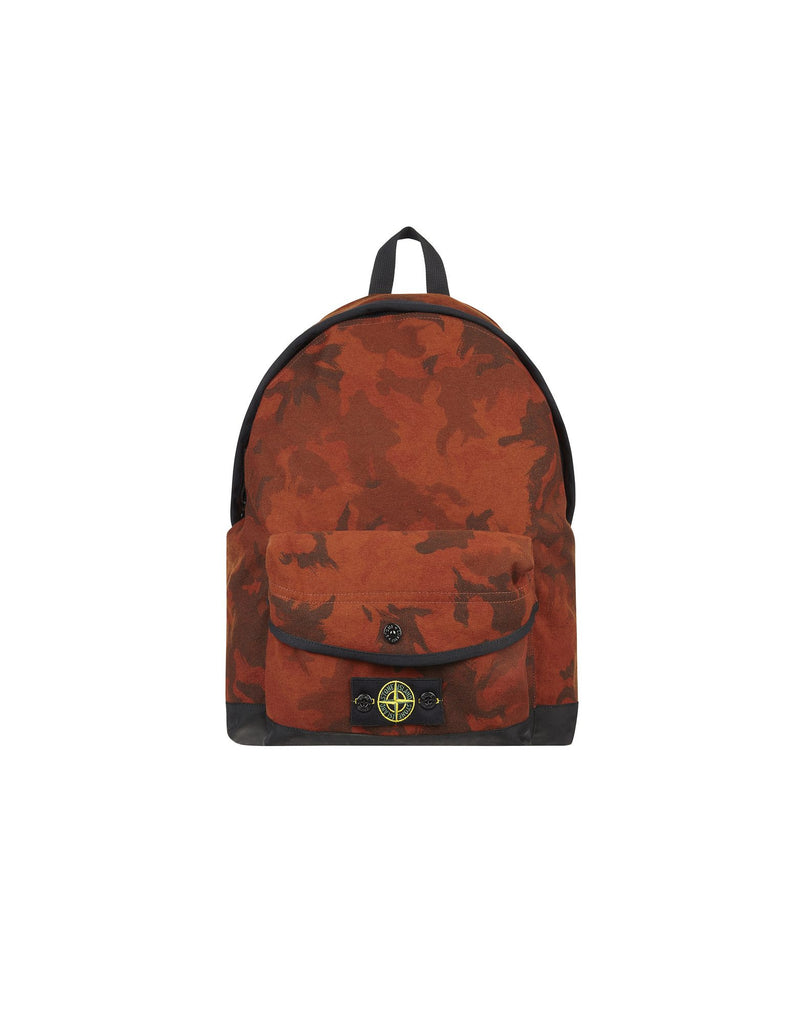 91661 Camouflage Water Resistant Backpack in Red