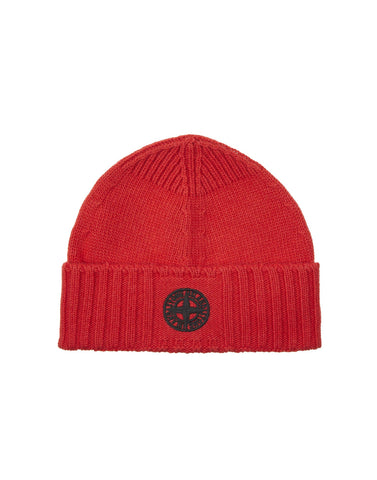 N04A6 Wool Hat in Red