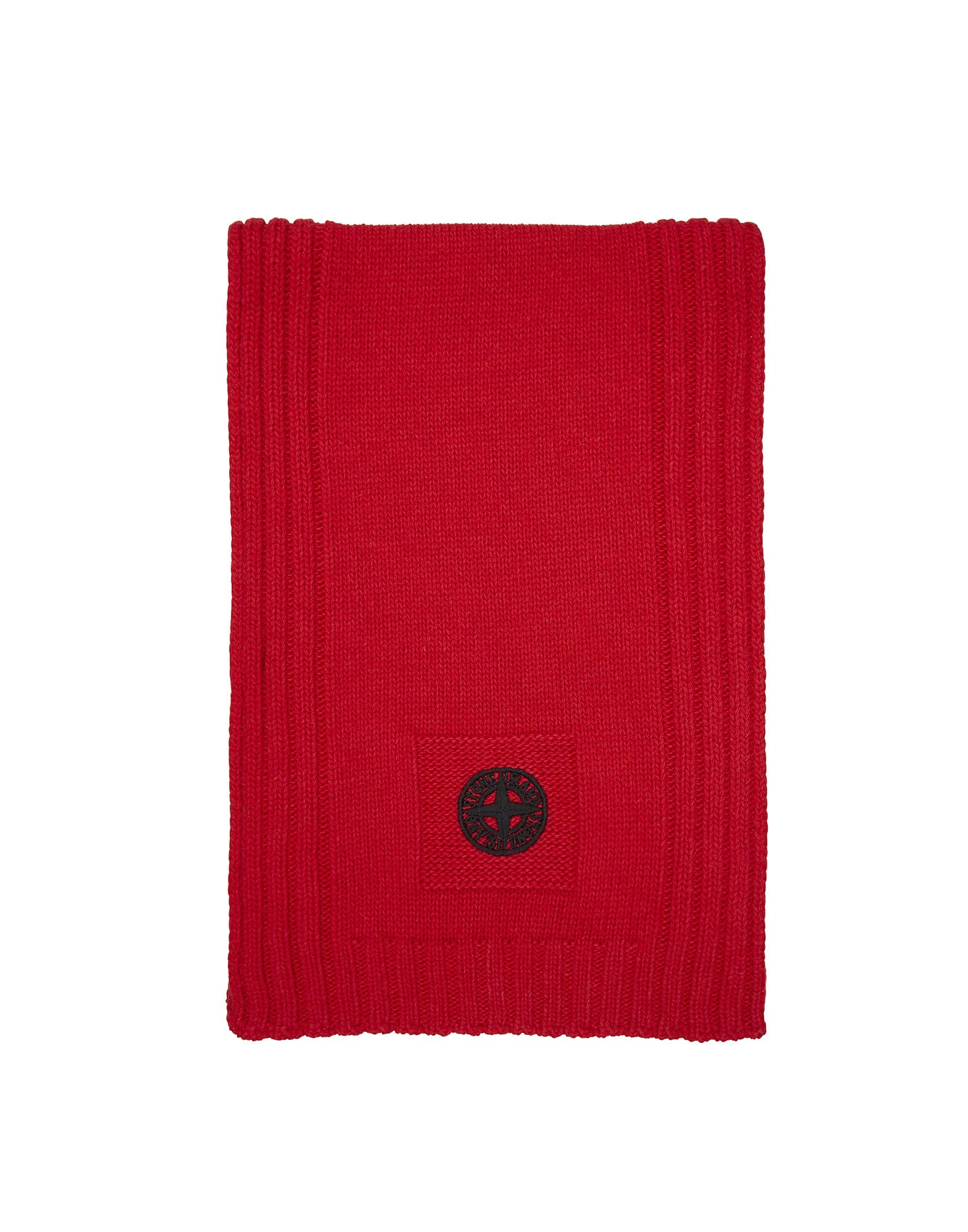 N05A6 Knitted Scarf in Red
