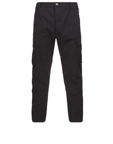 30313 CARGO PANTS _ COMFORT COTTON GABARDINE in Black