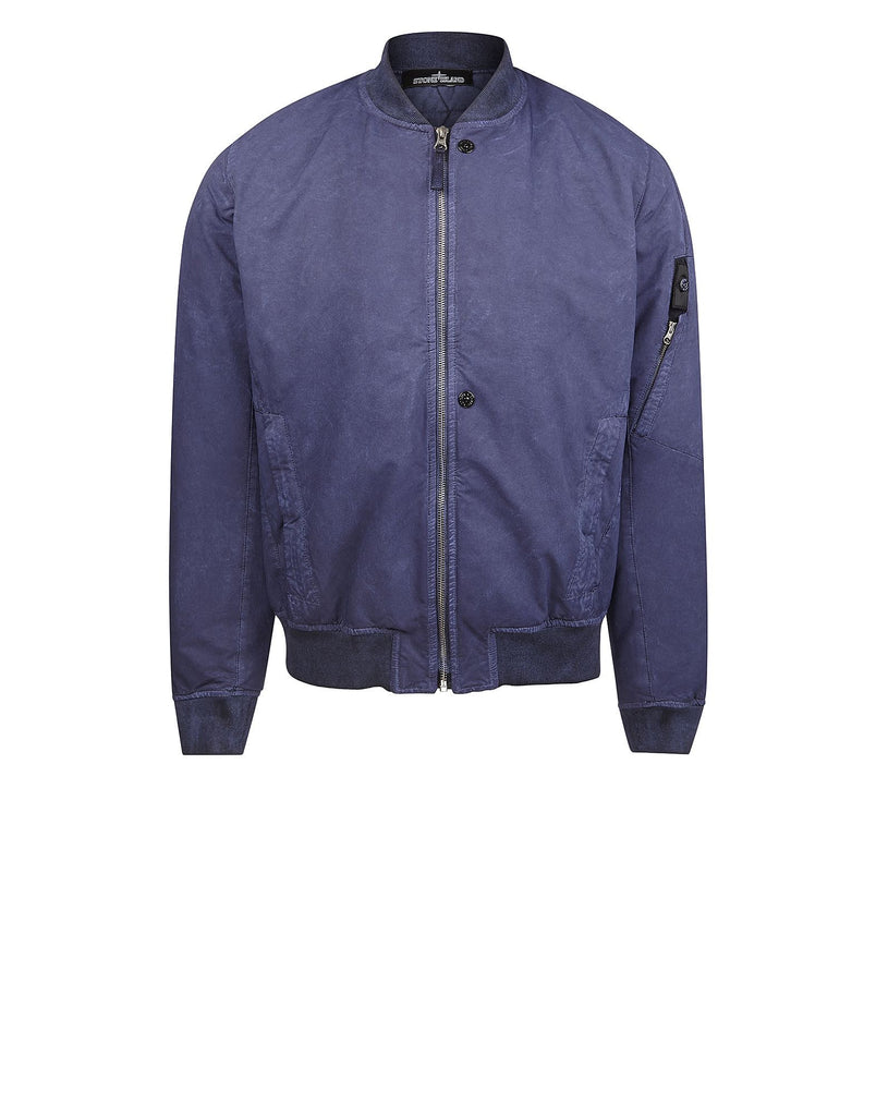 40503 DAVID-TC WITH FALLOUT COLOUR TREATMENT Bomber Jacket in Blue