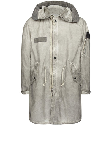70101 RASO-R WITH FALLOUT COLOUR TREATMENT WEATHER RESISTANT BREATHABLE FISHTAIL PARKA in Grey