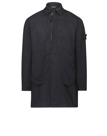 70212 ASYM _ JERSEY-R LIGHT WINDPROOF CAR COAT in Black