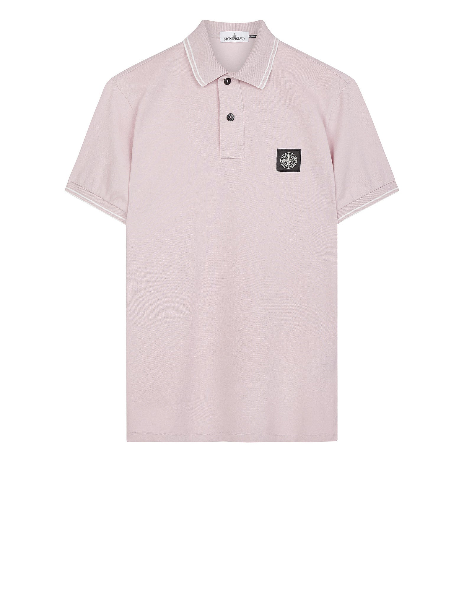 22S18 Patch Program Polo Shirt in Pink
