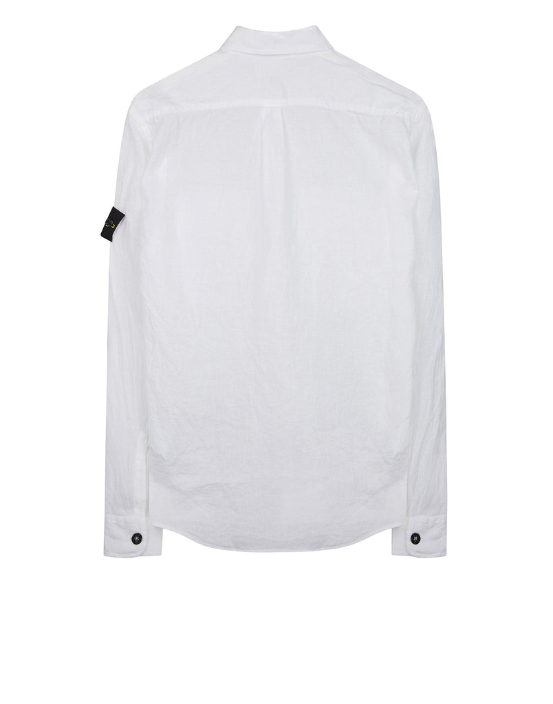 10501 'FISSATO' DYE TREATMENT Shirt in White