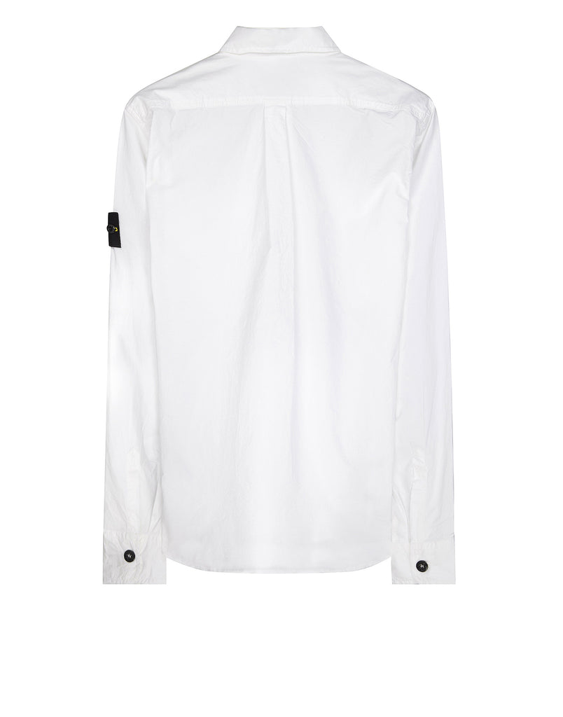 10503 Cotton Long Sleeve Shirt in White