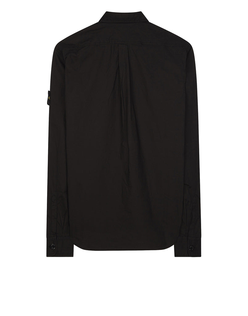 10503 Cotton Long Sleeve Shirt in Black